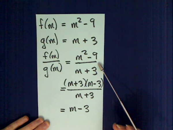Dividing Two Functions