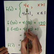 Evaluating a Piecewise Function