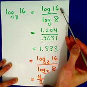 Applying the Change of Base Formula