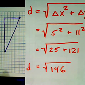 Distance with the Pythagorean Theorem