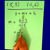 Finding the Equation of a Line from Two Points