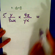 Practice Multiplying and Dividing Algebraic Fractions