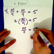 Practice Equations with Algebraic Fractions