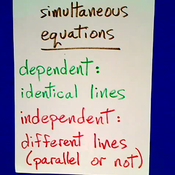 Dependent and Independent Equations
