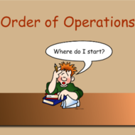 Math 6 Lesson 1.10: Order of Operations