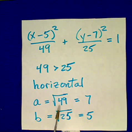 Determining if an Ellipse is Horizontal or Vertical