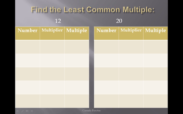Finding the LCM with Multiple Charts
