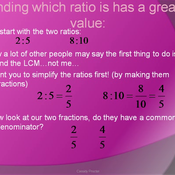 Comparing Basic Ratios