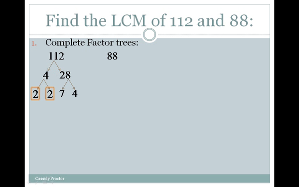 Finding the LCM with Factor Trees
