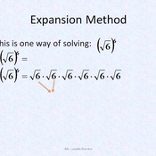 Taking a Root to an Exponent