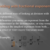 Division Rule with Fractional Exponents