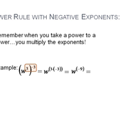 Power Rule with Negative Exponents