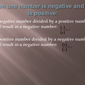 Dividing Positive and Negative Numbers