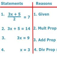 Topic 3-3 Algebra Proofs