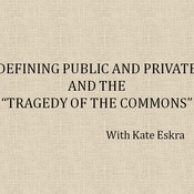 """Public Goods, Private Goods, and the """"Tragedy of the Commons"""""""