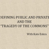 "Defining public and private and the ""tragedy of the commons"""