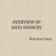 Overview of Data Sources