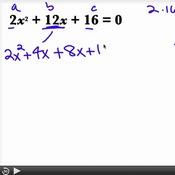 Factoring Quadratic Equations when a ≠ 1