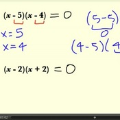 Solving Quadratic Equations in Factored Form