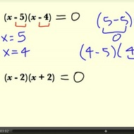 Solving Quadratic Equations in Factored Form