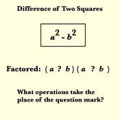 Factoring Binomials - Difference of Two Squares