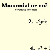 Identifying Monomials