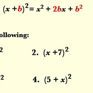 Special Products Rule - Square of a Sum