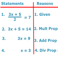 3-4 Algebraic Proofs (due Thursday 10/16)