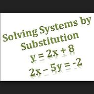 Lesson 2-2 Solving Systems by Substitution