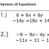 2.4 Systems of Equations: Choose best Method (due at midnight on WED Oct. 9)