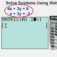 2-6 Solving Systems by Matrices (due by midnight on TUES Oct. 15)