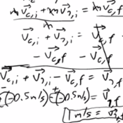 Solving for Velocity in Elastic Collisions