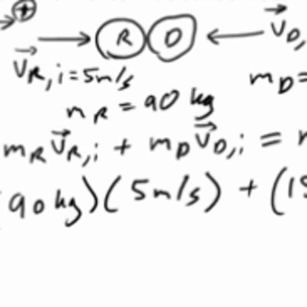 Using Conservation of Momentum