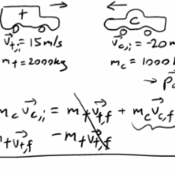 Solving for Momentum in Inelastic Collisions