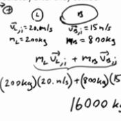Practice w/ Perfectly Inelastic Collisions