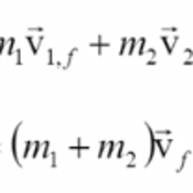 Perfectly Inelastic Collisions & Conservation of Momentum
