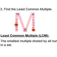 Math 6 Lesson 3.6: Least Common Multiple