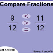 Math 6: Lesson 3.7: Comparing & Ordering Fractions