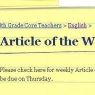 How to complete Article of the Week