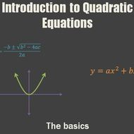 Introduction to Quadratic Equations