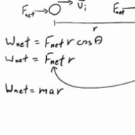 Work-Energy Theorem Defined Mathematically