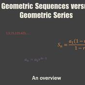 Geometric Sequences versus Geometric Series