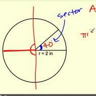 Finding the Area of a Sector Using the Central Angle