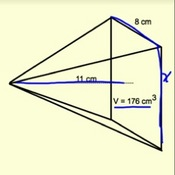 Finding Unknown Values Using the Volume of a Pyramid
