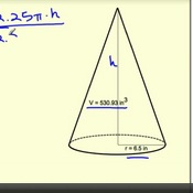 Finding Unknown Values Using the Volume of a Cone