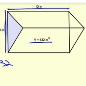 Determining Unknown Values Using Volume of Triangular Prisms