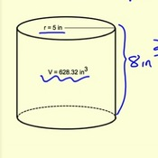 Determining Unknown Values Using the Volume of a Cylinder