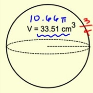 Finding Radius From Volume of a Sphere
