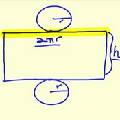 Finding the Surface Area of a Cylinder
