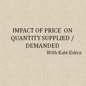 Impact of Price on Quantity Supplied/Demanded